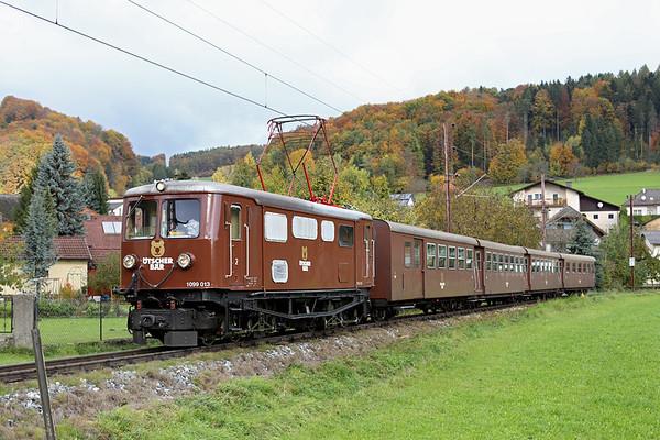 1099 013 Rabenstein an der Pielach 18/10/2013 P6807 0830 St Pölten Hbf-Mariazell