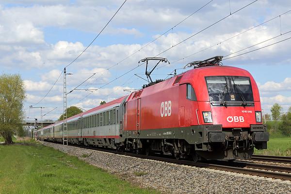 1016 040 Nersingen 4/5/2016 EC112 1027 Klagenfurt Hbf-Frankfurt (M) Hbf
