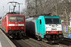 2843 and 120145, Köln Sud 6/3/2013<br /> 120145: IC2024 0718 Passau Hbf-Hamburg Altona