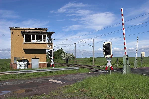 Level Crossing and Disused Signal Box near Kötzschau, Germany 19/5/2006