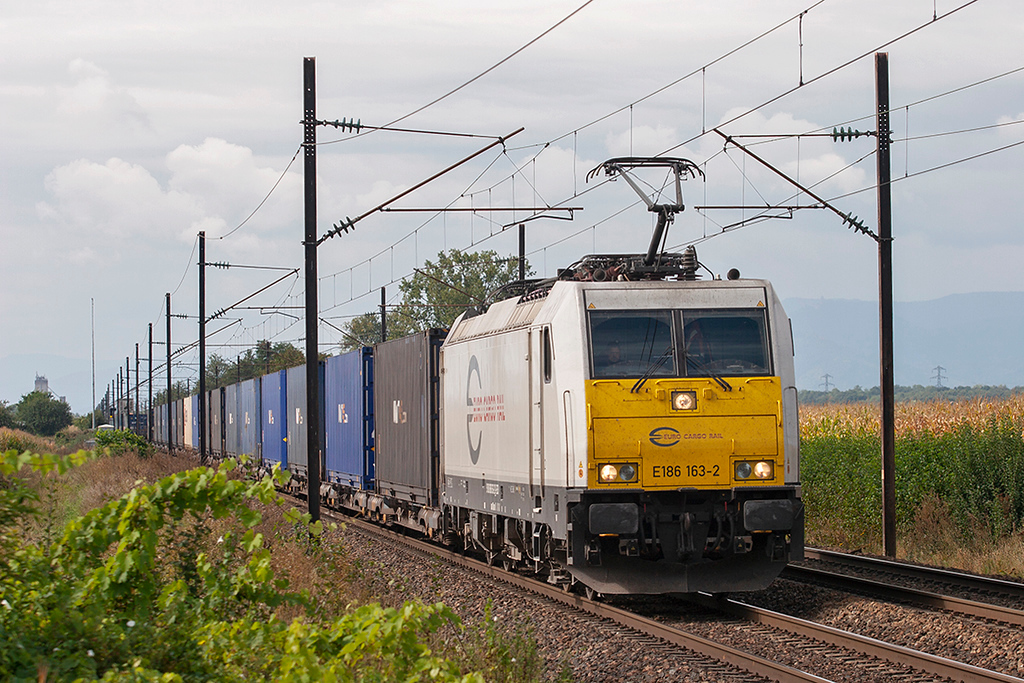 Euro Cargo Rail 186163, Huttenheim 13/9/2012