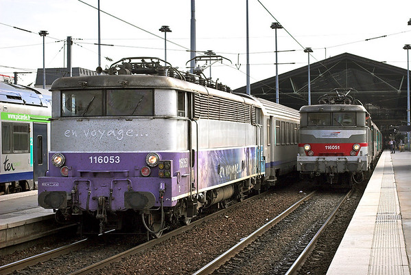 116053 and 116051, Paris Nord 10/9/2012 116053: 2017 1701 Paris Nord-Boulogne Ville 116051: 12313 1637 Paris Nord-Mauberge