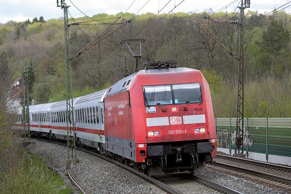 101051 Westerstetten 4/5/2016 IC2261 1205 Karlsruhe Hbf-München Hbf