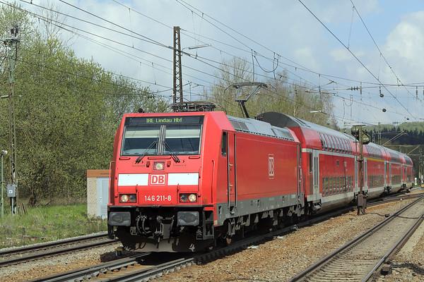 146211 Amstetten 4/5/2016 IRE4225 1002 Stuttgart Hbf-Lindau Hbf