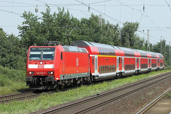146103 Dörverden 9/6/2007 RE4415 0840 Norddeich Mole-Hannover Hbf