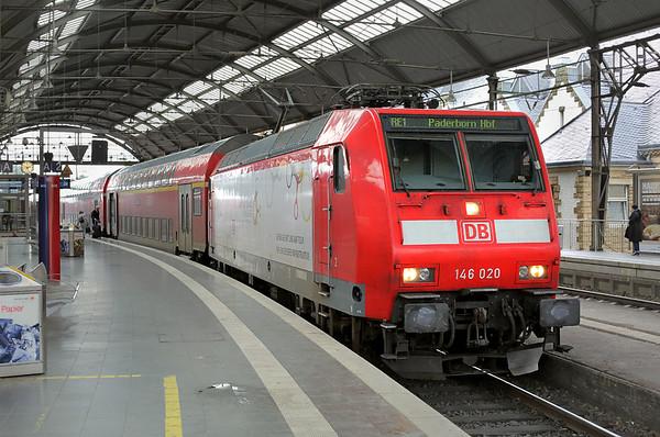 146020 Aachen Hbf 14/8/2014 RE10129 1451 Aachen Hbf-Padeborn Hbf