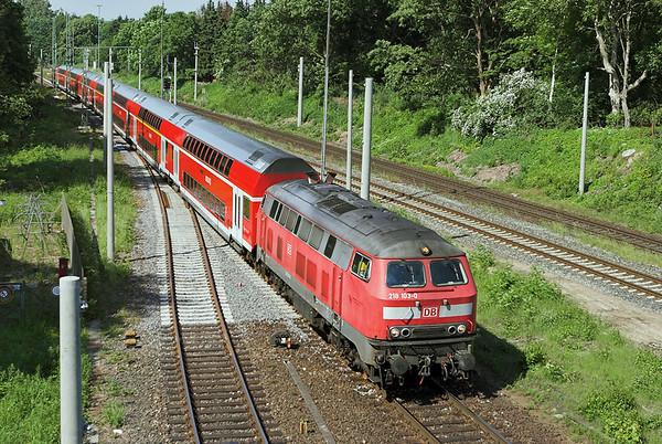 218103 Ahrensburg 8/6/2007 RE21412 1003 Hamburg Hbf-Lübeck Hbf
