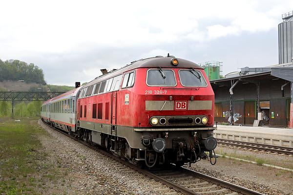 218326 Biberach 3/5/2016 IC119 0727 Münster Hbf-Innsbruck Hbf