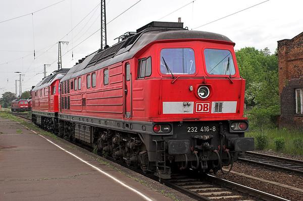 232416 and 232254, Großkorbetha 18/5/2006