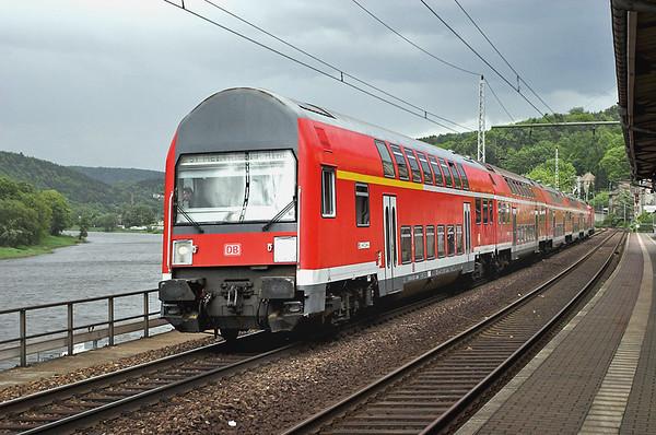 143562 (on rear), Königstein 19/5/2006 S1 1518 Schöna-Meißen Triebischtal