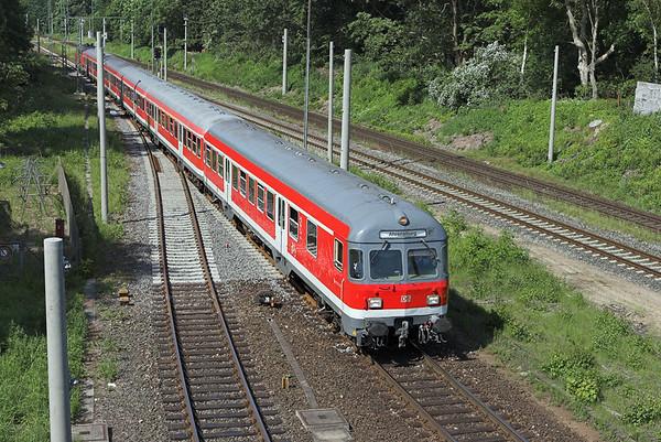 218104 (on rear), Ahrensburg 8/6/2007 RB21362 1007 Hamburg Hbf-Ahrensburg