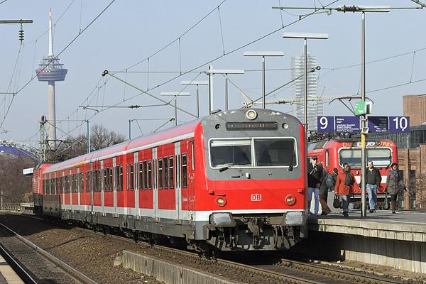 143660 (on rear), Köln Messe/Deutz 5/3/2013 S6 1012 Köln Nippes-Essen Hbf