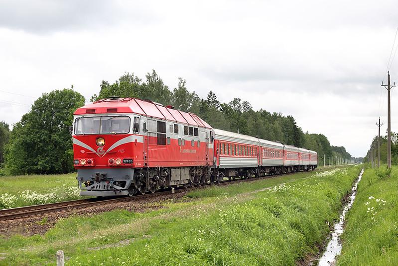 TEP70-335 Bebrujai 1/6/2014<br /> Eks780 1215 Klaipėda-Vilnius