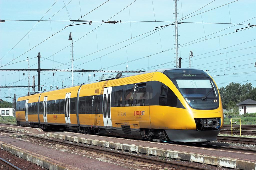 Regiojet 643073 Komárno 28/6/2012<br /> OS4311 0725 Bratislava hl.st-Komárno
