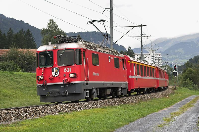 631 Ilanz 19/9/2008<br /> RE1249 1245 Disentis-Scuol Tarasp