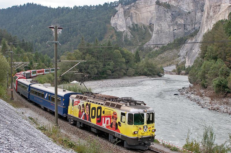 611 Versam-Safien 19/9/2008<br /> D906 and D908, 1010 and 1013 Zermatt-St Moritz