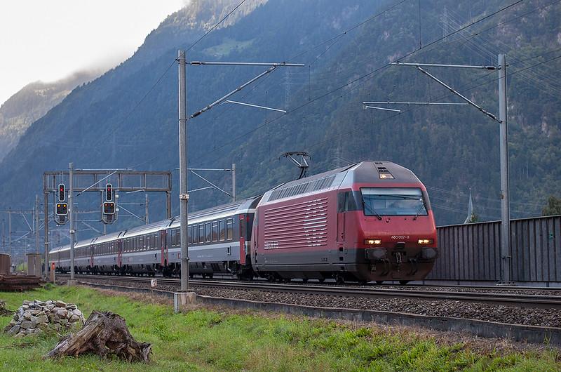 460007 Erstfeld 17/9/2008<br /> IC668 0628 Chiasso-Basel SBB