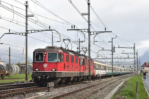 11112 and 11304, Altdorf 18/9/2008 CIS151 0709 Zürich HB-Milano Centrale