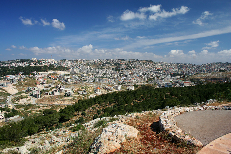 Nazareth, Israel as seen from Mount Precipice.