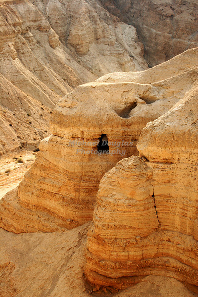 Caves of Qumran, Israel. Like those that the Dead Sea Scrolls were discovered.