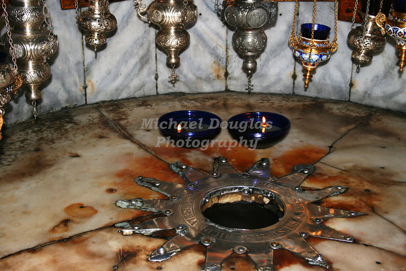 Birthplace of Christ Jesus at the Church of the Nativity in Bethlehem, Israel