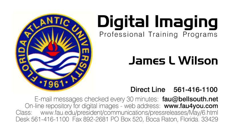 FAU PTP Business Card