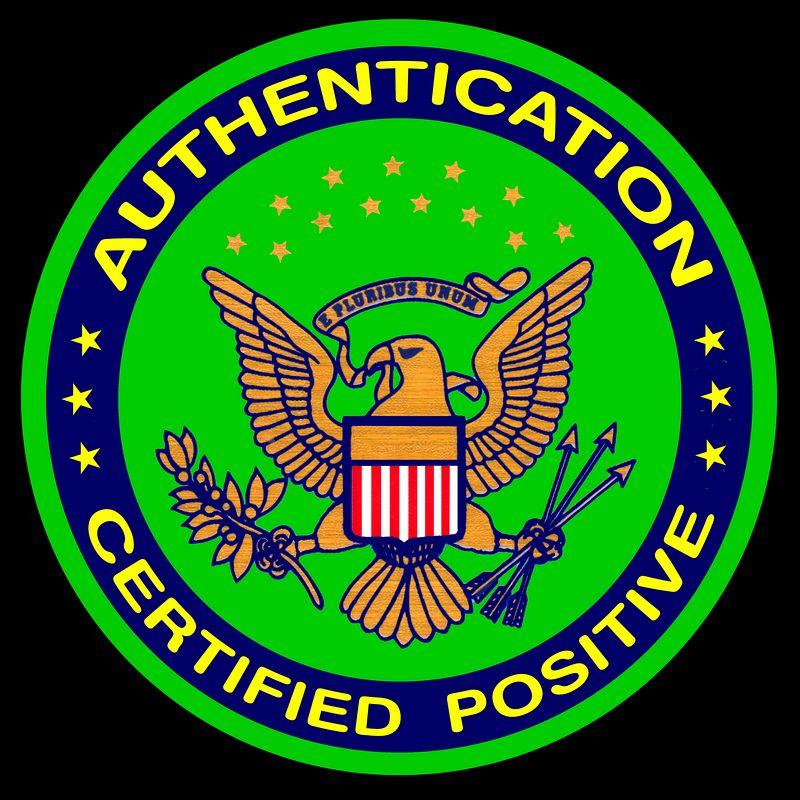Authenticity Certifiec Positive 5000pix 1 ring - D blk bg