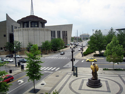 Schermerhorn Symphony Center - Nashville, TN - View of Angel Statue Facing the Country Music Hall of Fame in recognition of Nashville and Music City