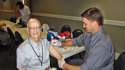 FHBC Climbers Lunch September 17, 2013 - Getting Flu Shots