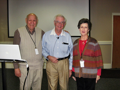 Our speaker James McLemore with James and Pat Berthelot - October 20, 2009 Luncheon