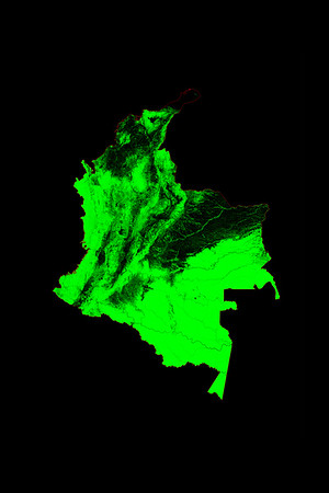 Forest cover map of Colombia