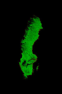 Forest cover map of Sweden