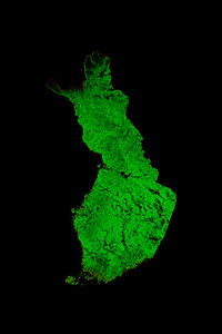 Forest cover map of Finland