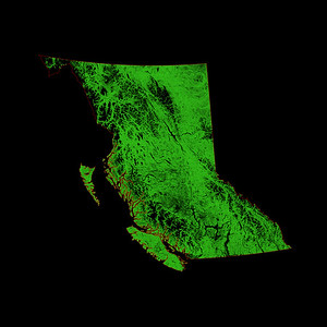 Forest cover map of British Columbia
