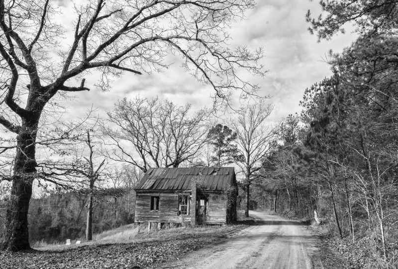 The old Hopewell Baptist Church in rural Dallas County