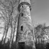 Crenelated water tower, Marvel. Shelby County