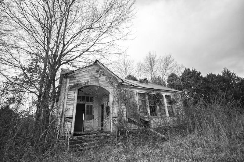 Two room school in Bibb County