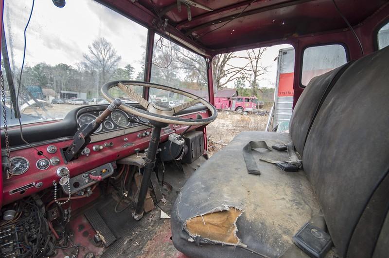 Old firetruck in a salvage yard near Sylacauga. Talladega County