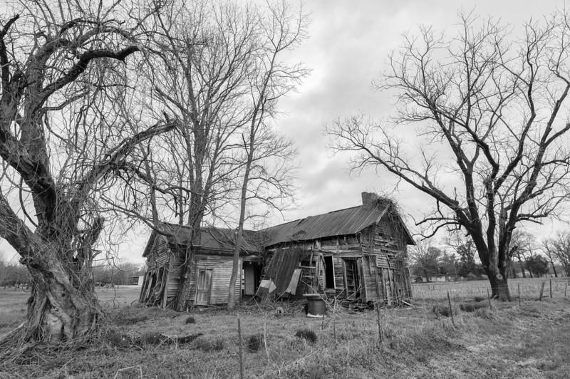 Dogtrot farmhouse. Fayette County