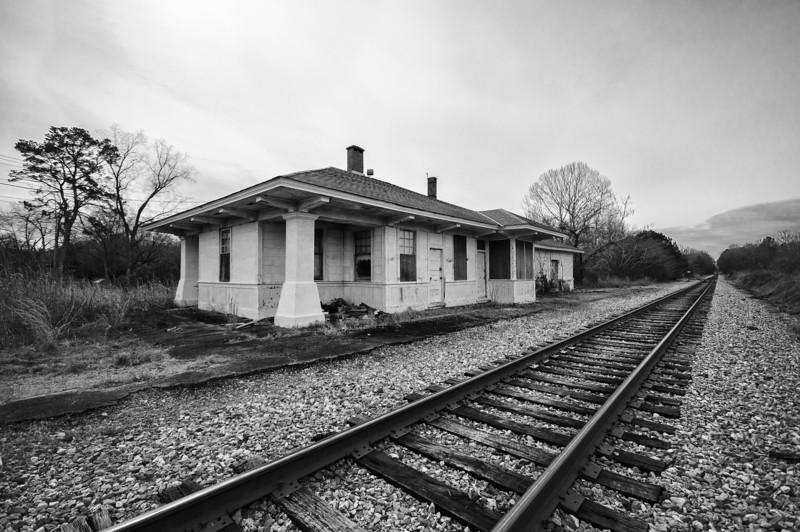 Former Gulf, Mobile & Ohio depot in Prattville. Elmore County