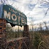 The Oak View Motel sign. Alternative view. Dallas County