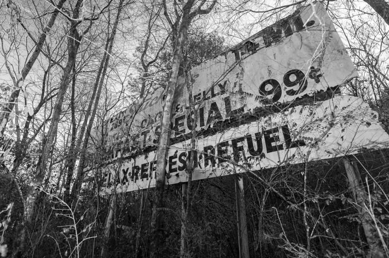 Old 1970s Stuckey's billboard on US 31. Jefferson County