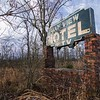 Oak View Motel sign. Dallas County