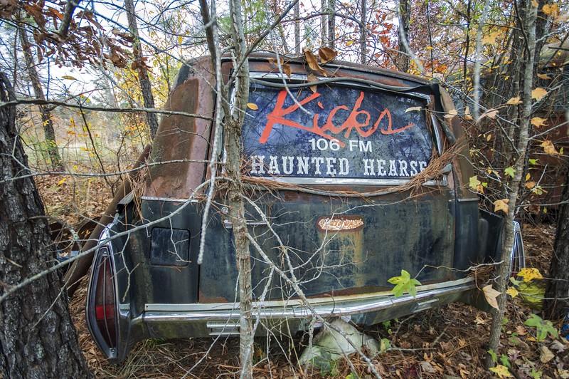 Kicks 106 Haunted Hearse. Talladega County