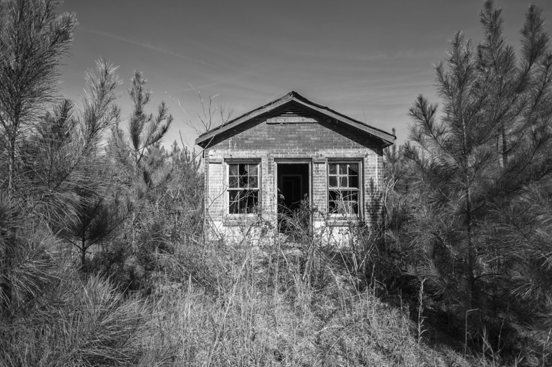 Old store in the weeds. Choctaw County