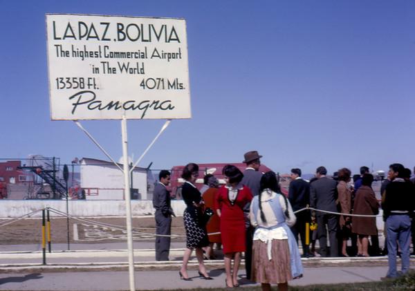 Lapaz Airport - Bolivia 1963