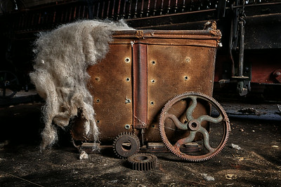 Cart with a wool