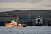 "General Cargo Ship ""Kaili"" passes through the Barrow Bridge. A Customs Ship heads towards Waterford. Sun 27.10.19"