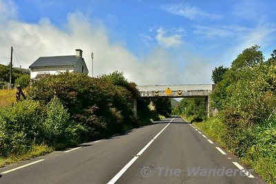 For a short section after Glenbeigh the N70 Ring of Kerry road uses the formation of the Valentia Harbour railway line. The overbridge marks the spot where the former Mountain Stage Station was located. Sat 15.07.17