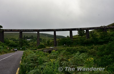 The spectaculator Gleensk Viaduct carried the Valentia Harbour Branch over the valley. Sat 15.07.17